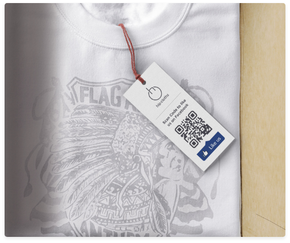 qr code sample shirt label