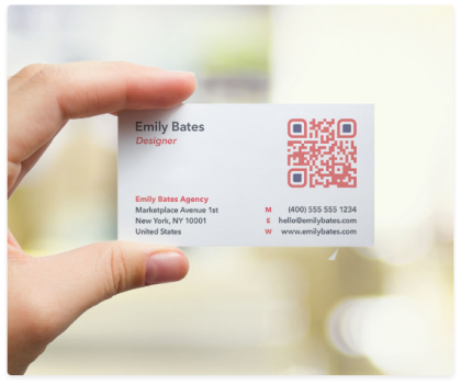 qr code sample business card