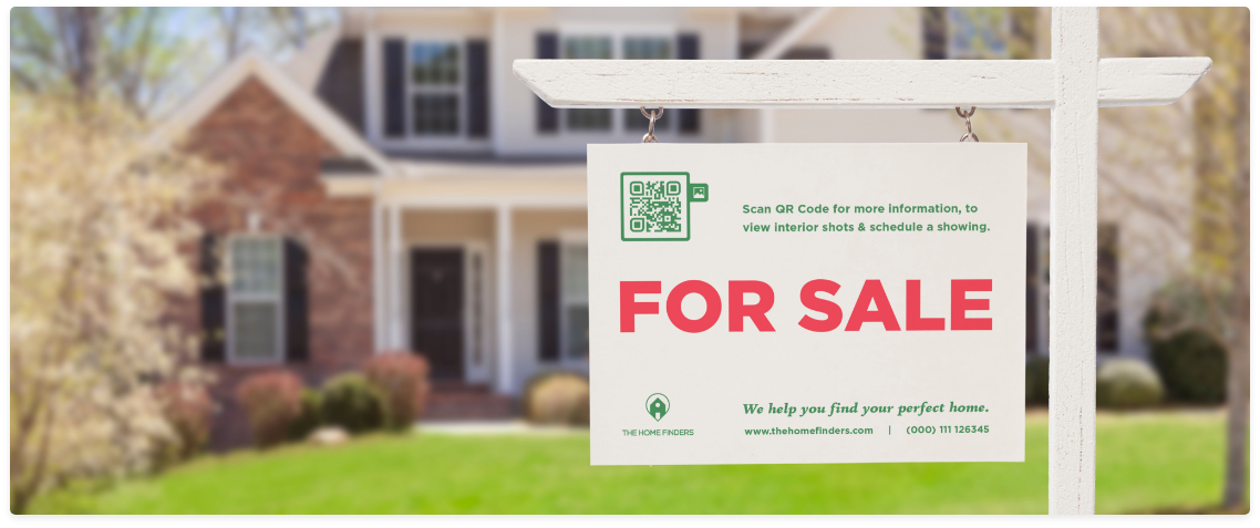 qr code sample real estate sign